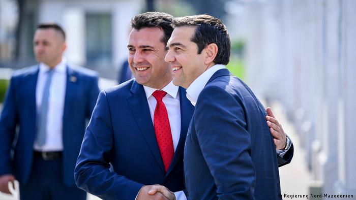 Zoran Zaev i Alexis Tsipras u Skoplju