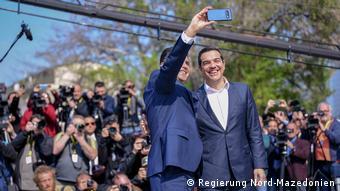 Nord-Mazedonien Alexis Tsipras mit dem mazedonischen Kollegen Zoran Zaev in Skopje (Regierung Nord-Mazedonien)