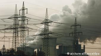 Дымящаяся угольная электростанция
