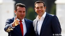 Greek Prime Minister Alexis Tsipras visits North Macedonia