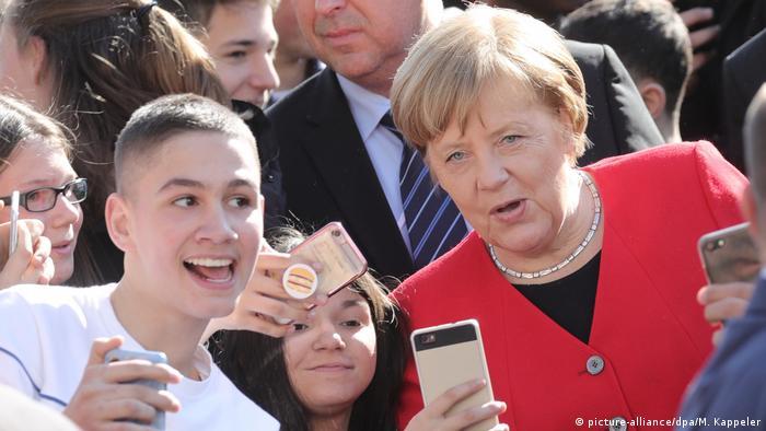 Angela Merkel Thomas Mann Gymnasium Berlin Besuch