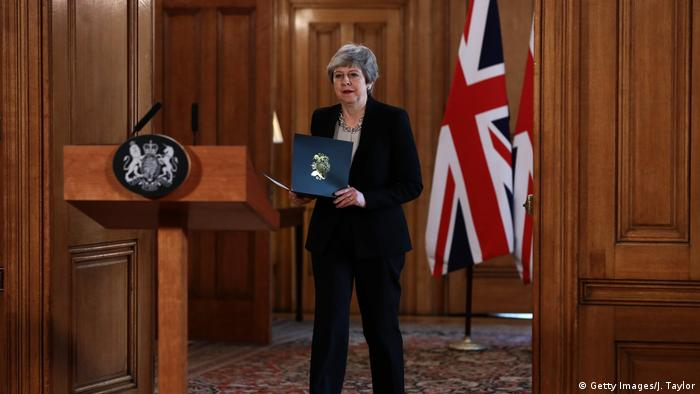 Rede Theresa May zu Brexit-Aufschub (Getty Images/J. Taylor)