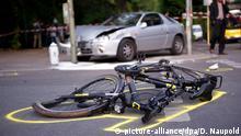 Fahrradunfall auf Straße