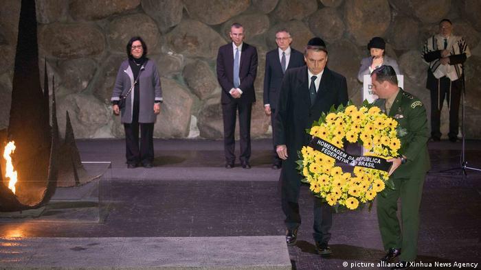 Jair Bolsonaro bei einer Gedenkfeier der Holocaustopfer in Jerusalem (picture alliance / Xinhua News Agency)