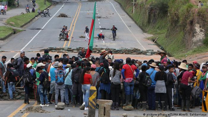 Kolumbien Proteste in Valle del Cauca (picture-alliance/ZUMA Wire/S. Saldarriaga)
