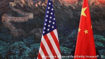 Handelsstreit zwischen USA und China (picture-alliance/dpa/Getty Images/F. Li)