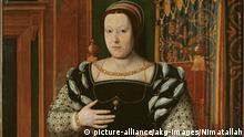 Katharina von Medici; Königin (Heinrich II.) v. Frankr., Tochter Lorenzos II. v. Medici; Florenz 13.4.1519–Blois 5.1.1589 Porträt. Gemälde, französische Schule, 1535. Florenz, Palazzo Pitti, Galleria Palatina. |