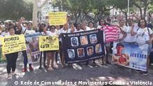 Mütter, deren Kinder von Polizeibeamten bei illegalen Aktionen in Brasilien hingerichtet wurden