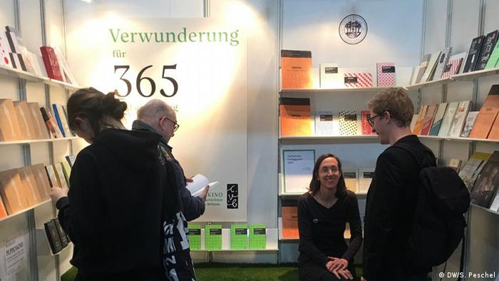 Small publishers presening their works at the Leipzig Book Fair in March