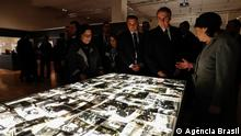 Brasiliens Präsident Jair Bolsonaro während seines Besuchs im Holocaust Museum Yad Vashem in Jerusalem