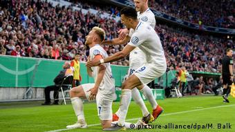 DFB Pokal - Bayern München - 1. FC Heidenheim | Torjubel (1:2) (picture-alliance/dpa/M. Balk)