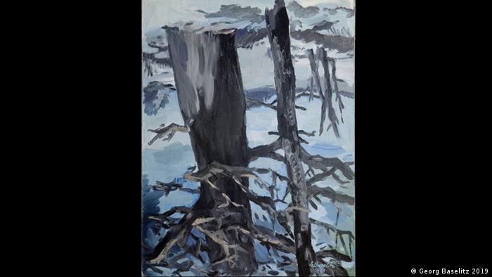 Der Wald auf dem Kopf by Georg Baselitz (Georg Baselitz 2019)
