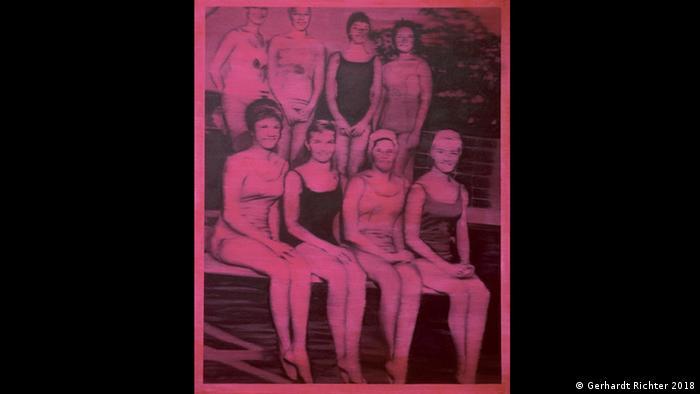 Gerhard Richter's work Schwimmerinnen (Swimmers) (Gerhardt Richter 2018)