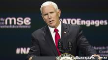 USA, Washington: Mike Pence - NATO - Atlantischer Rat