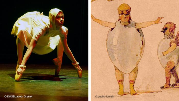 allet of the Unhatched Chicks': the Flying Steps dancer reproduces Hartmann's sketches from 1971
