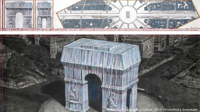Christo project: the planned veiled L'Arc de Triomphe in Paris