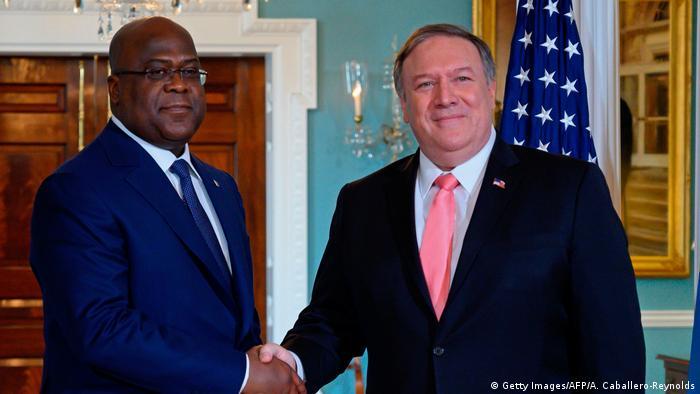 New York Besuch Kongo Präsident Felix Tshisekedi bei Pompeo