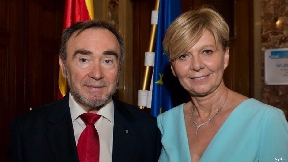 Martin Trenevski und Vasilka Poposka, Botschafter Nord-Mazedonien in Wien