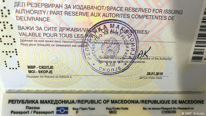 Alter mazedonischer Pass