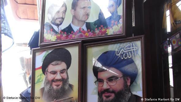 Präsident al-Assad mit befreundeten Politikern, (Foto: Stefanie Markert)