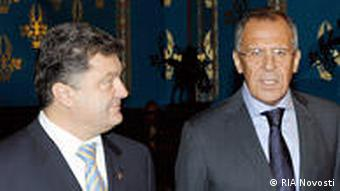 Russian and Ukrainian Foreign Ministers, Sergei Lavrov, right, and Petro Poroshenko, left, respectively during a meeting in Moscow. RIA Novosti 23.10.2009