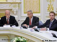 Немецкие менеджеры и Игорь Шувалов во время встречи