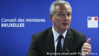 Bruno Le Maire, le ministre français de l'économie et des Finances