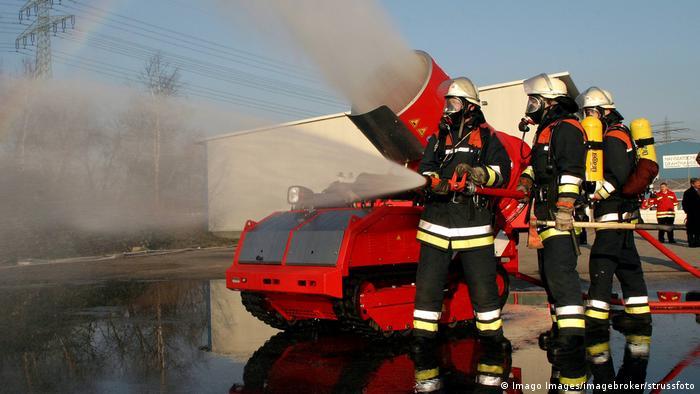 Отработка действий расчета пожарных при тушении пожара