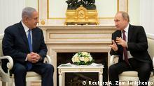 Treffen Russland Israel Wladimir Putin Benjamin Netanjahu