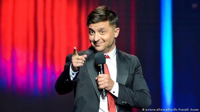 Ukraine comedian Volodymyr Zelensky (picture-alliance/Pacific Press/A. Gusev)