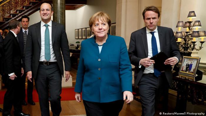 Taoiseach Leo Varadkar with Chancellor Angela Merkel
