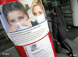Плакаты, предупреждающие об опасности свиного гриппа