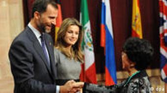 Spanish Crown Prince Felipe and Princess Letizia