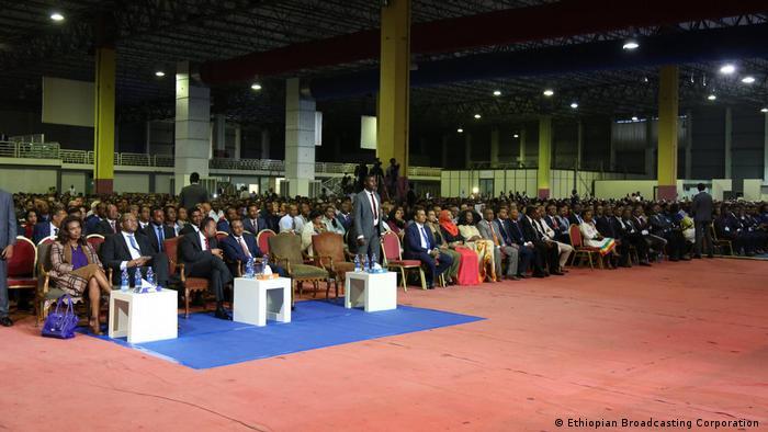 Äthiopien Premierminister Abiy Ahmed Rückblick auf die einjährige Millennium Hall