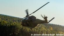 A German military helicopter (picture-alliance/dpa/P. Schulze)