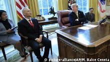 USA, Washington: Donald Trump trifft Liu He im Weißen Haus