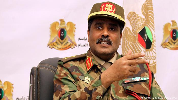 Brigadier Ahmed al-Mesmari, spokesman of the self-proclaimed Libyan National Army