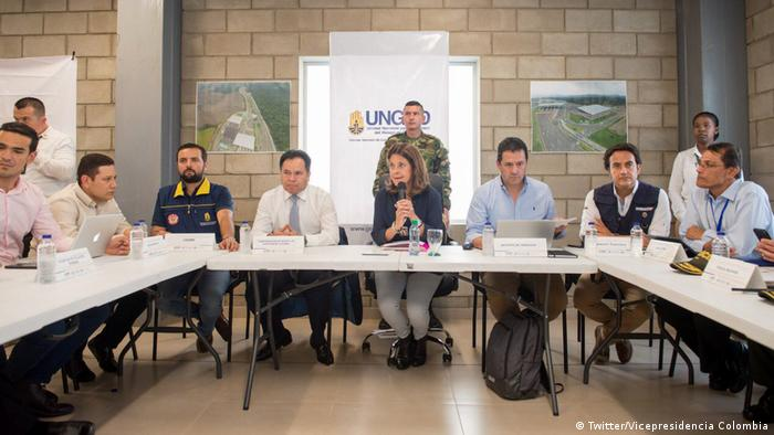 Kolumbien Pressekonferenz Vize-Präsidentien Ramire Christian Krueger Migration Kolumbien (Twitter/Vicepresidencia Colombia)