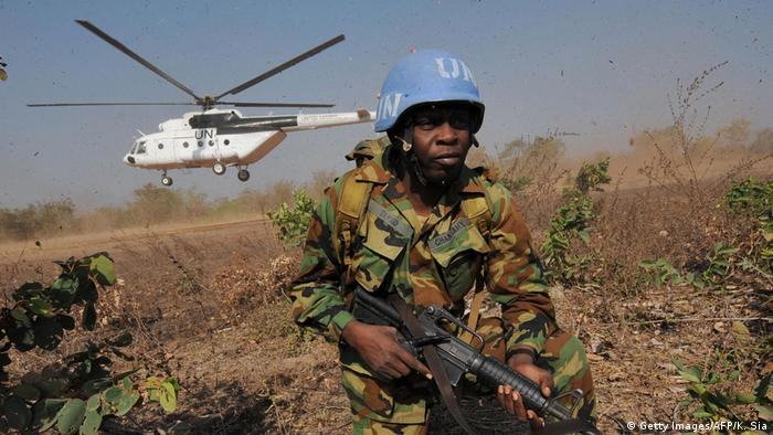 UN peacekeeper from Ghana (Getty Images/AFP/K. Sia)