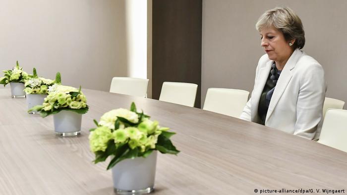 Theresa May, hier 2017 in Brüssel, will offenbar um weiteren Aufschub bitten