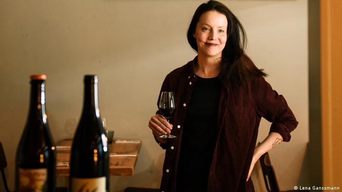 Viivi Haussila-Seppo in her wine bar Palsta (Lena Ganssmann)