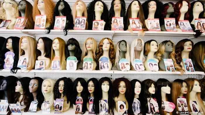wigs on display Ganssmann)