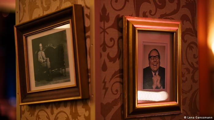 Fotos mit den beiden deutschen Komikern Loriot und Heinz Erhardt (Lena Ganssmann)