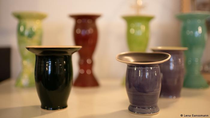 Verschiedene Cuias, traditionelle Gefäße für Mate (Lena Ganssmann)