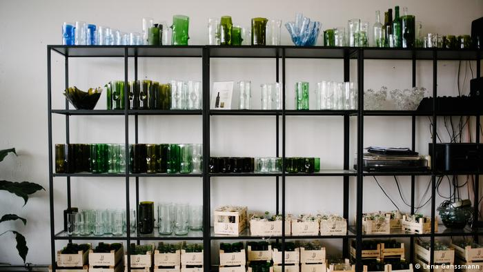 glassware on shelves (Lena Ganssmann)