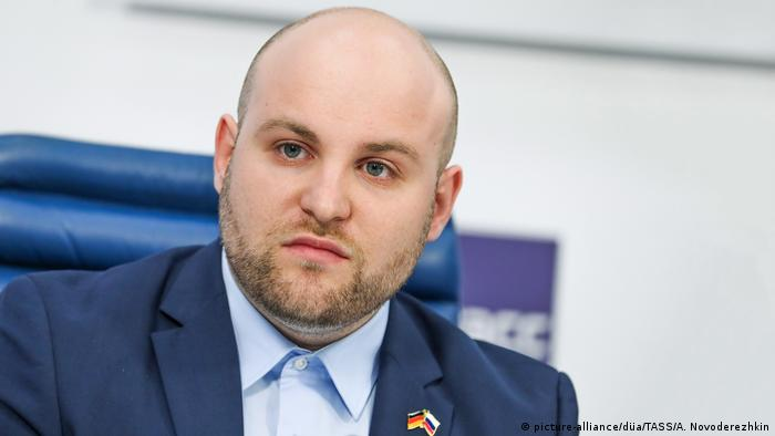 Markus Frohnmaier AFD Jalta Wirtschaftsforum (picture-alliance/düa/TASS/A. Novoderezhkin)