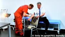 Ukraine - Präsidentschaftswahlen Poroschenko Drogentest
