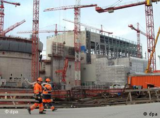 Baustelle des Atomkraftwerks in Olkiluoto/Finnland (Foto: dpa)