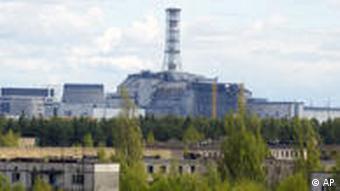 Verlassenes Gebäude vom AKW in Tschernobyl