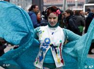 برلن میں ماحول دوست مظاہرے کا ایک منظر